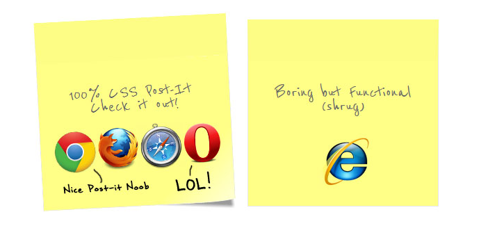css post it note