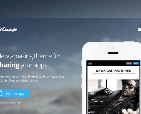bluap responsive mobile app marketing wordpress theme 495x400