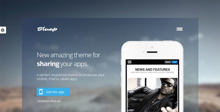 Bluap Responsive Mobile App Marketing WordPress Theme