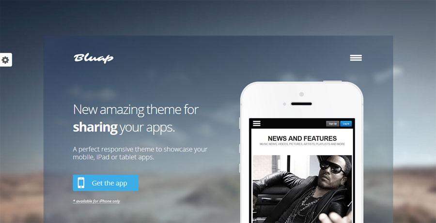 bluap responsive mobile app marketing wordpress theme