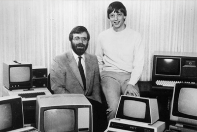 early Bill Gates and Paul Allen