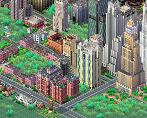 Imagine of a digital city, captures from SimCity3000