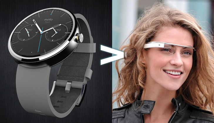 why moto 360 is better than google glass