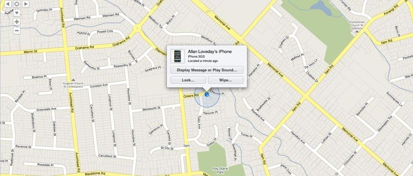 Find my iPhone 845x360