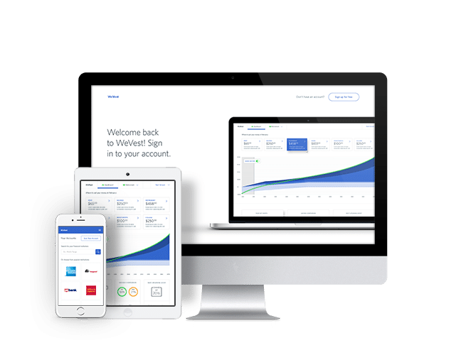 Wevest financial application and mobile apps