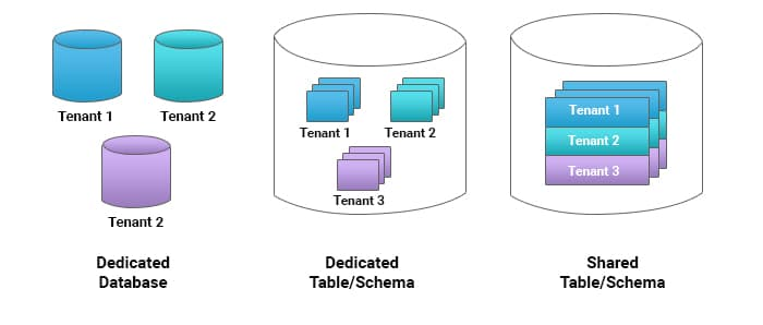 Multi-Tenant Data Organization Approaches