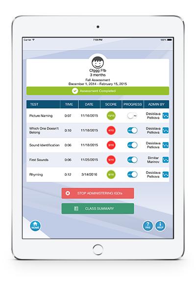 IGDILabs Individual Profile and Scores Screenshot