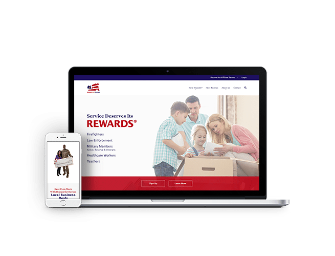 Homes for Heroes Website and Application