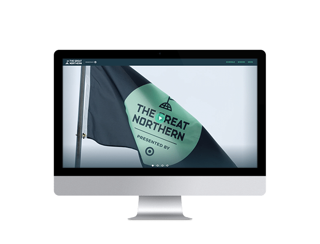 The Great Northern Wordpress Website on imac