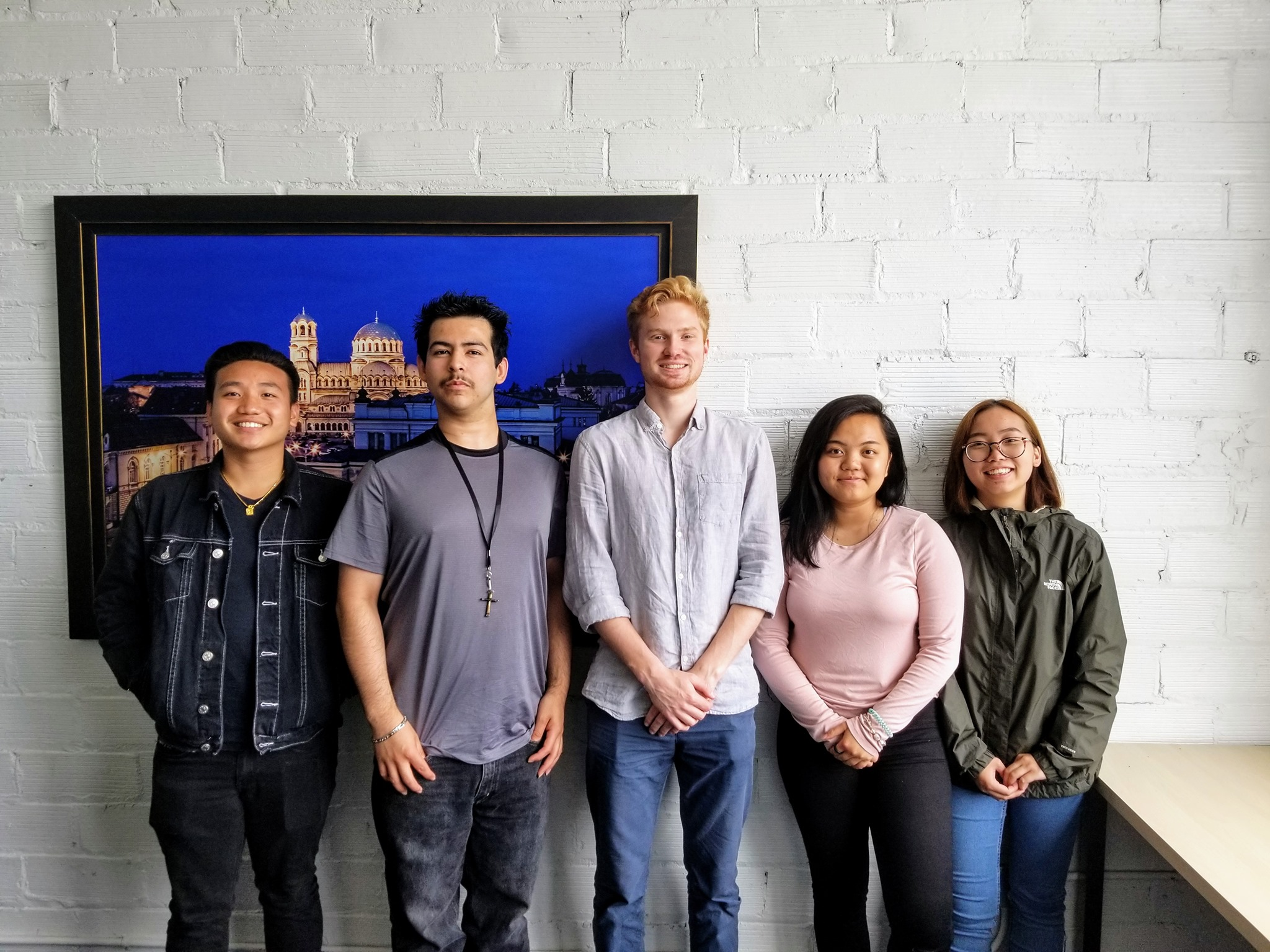 BrandLab interns in the Minneapolis MentorMate office