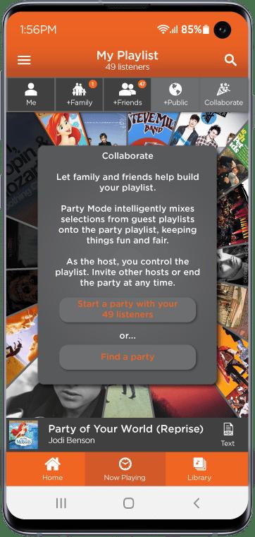 Giddy Music Streaming app Screenshot 2